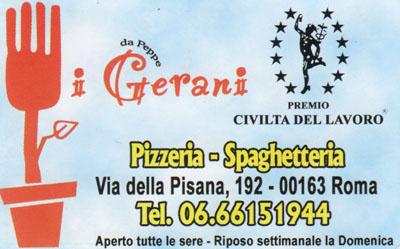 Biglietto da visita - I Gerani