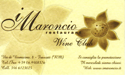 Biglietto da visita - I Maroncio Pizza Club