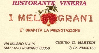 Biglietto da visita - I Melograni