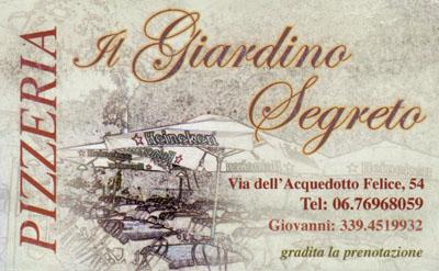 Biglietto da visita - Il Giardino Segreto