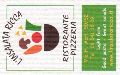 Biglietto da visita - L'Insalata Ricca