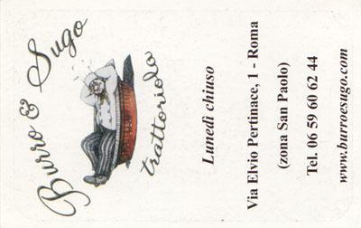 Biglietto da visita - Burro E Sugo