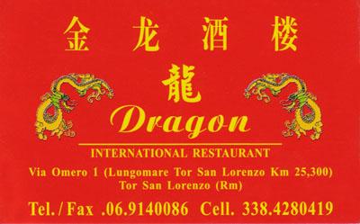 Biglietto da visita - Dragon