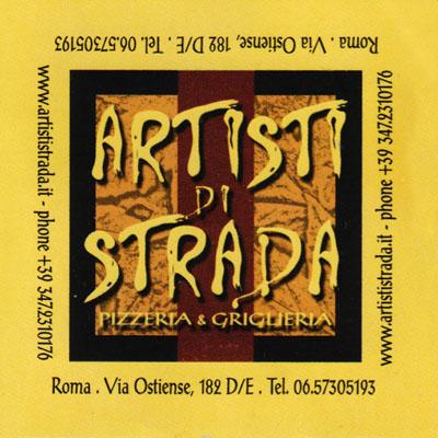 Biglietto da visita - Artisti Di Strada
