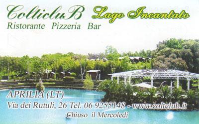 Biglietto da visita - ColticluB Lago Incantato