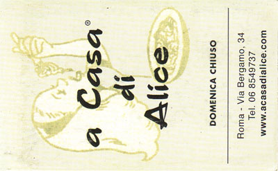 Biglietto da visita - A Casa Di Alice