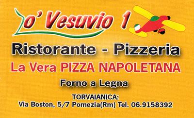 Biglietto da visita - O' Vesuvio 1