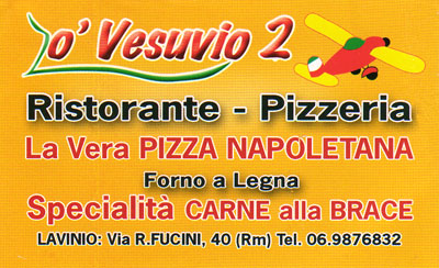 Biglietto da visita - O' Vesuvio 2